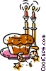 Vector Clip Art image  of a special dessert