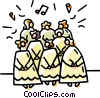 Vector Clip Art image  of a church choir