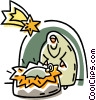 Vector Clip Art picture  of a nativity scene