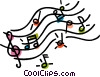 musical notes Vector Clip Art picture