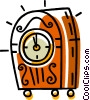 Vector Clip Art graphic  of a clock radios