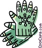 Vector Clip Art graphic  of a winter gloves