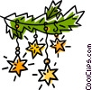 star Christmas decorations Vector Clipart illustration