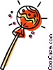 Vector Clip Art picture  of a lollipop
