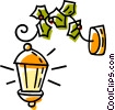 Vector Clipart graphic  of a Outdoor lamps