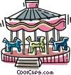 Vector Clipart illustration  of a merry-go-round