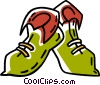 elf shoes Vector Clipart illustration