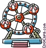 Vector Clipart graphic  of a Ferris wheel