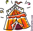 Vector Clipart illustration  of a circus tent