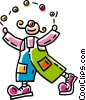 Vector Clip Art picture  of a juggling clown