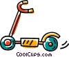 Vector Clip Art graphic  of a scooter