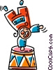 circus clown Vector Clipart illustration
