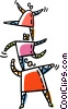 Vector Clipart graphic  of an acrobats