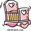 Vector Clipart graphic  of a baby's crib