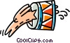 Vector Clip Art image  of an animal acts