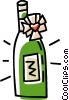 Vector Clip Art picture  of a wine bottles