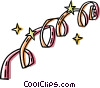 Vector Clip Art graphic  of a streamers