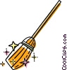 Vector Clip Art graphic  of a broom