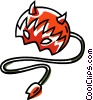 devil costume Vector Clipart graphic