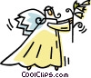 Vector Clip Art picture  of an angel