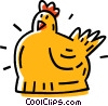 Vector Clipart graphic  of a hen
