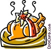 Christmas turkey Vector Clip Art picture