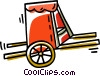 Vector Clipart graphic  of a Rickshaw