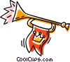 horn Vector Clipart graphic