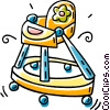 Vector Clip Art image  of a high chair