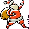 Vector Clipart graphic  of a Santa