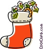 Vector Clip Art graphic  of a Christmas stockings
