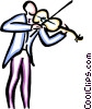 Vector Clip Art graphic  of a violinist