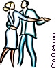Vector Clip Art graphic  of a couple dancing