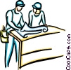 Vector Clipart illustration  of a construction foremen
