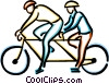 Vector Clipart illustration  of a two person bicycle
