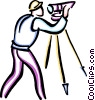 Vector Clip Art image  of a surveyors