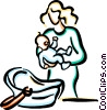 Mother with baby Vector Clip Art picture