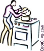 Vector Clipart picture  of a cook