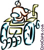 farmer on a tractor Vector Clipart image