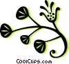Vector Clipart picture  of a decorative floral design