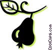 Vector Clipart graphic  of a pear