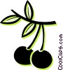 cherries Vector Clip Art graphic