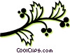 Vector Clipart image  of a wild berries