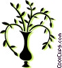 Vector Clip Art image  of a plant in a vase