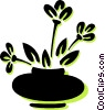 Vector Clip Art picture  of a potted plant