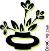 Vector Clipart picture  of a potted plant