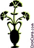 flowers in a vase Vector Clipart picture