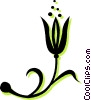 Vector Clip Art graphic  of a tulip