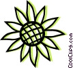 sunflower Vector Clipart graphic