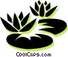Vector Clip Art picture  of a lily pads